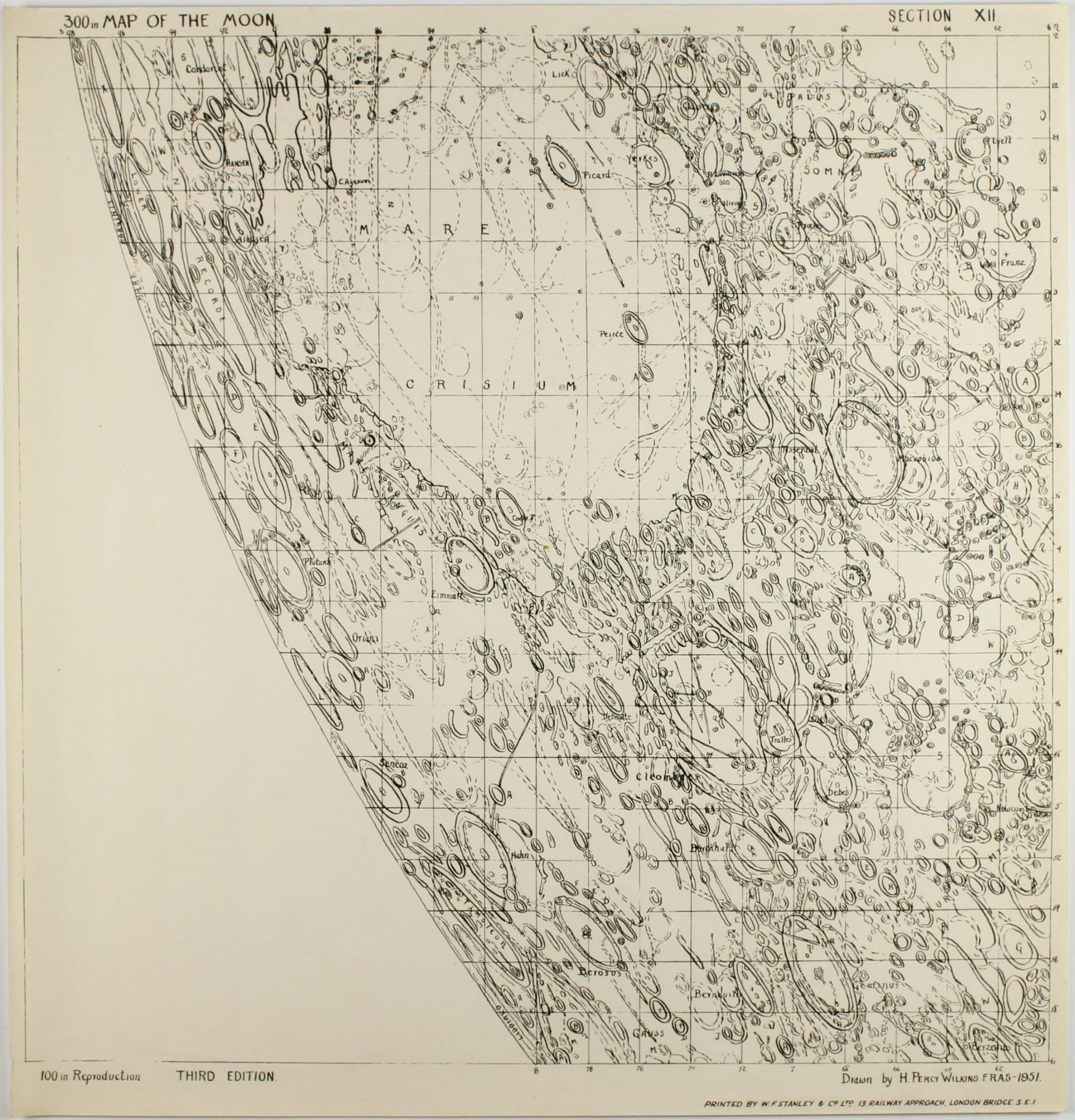 300-inch Map of the Moon by Hugh Percy WILKINS on Milestones of Science  Books