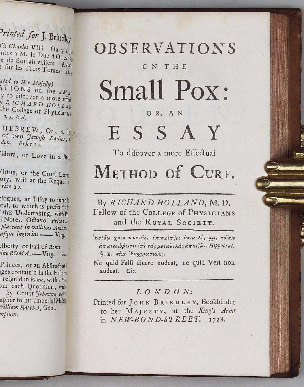 observations on the small pox or an essay to discover a mord observations on the small pox or an essay to discover a mord effectual method