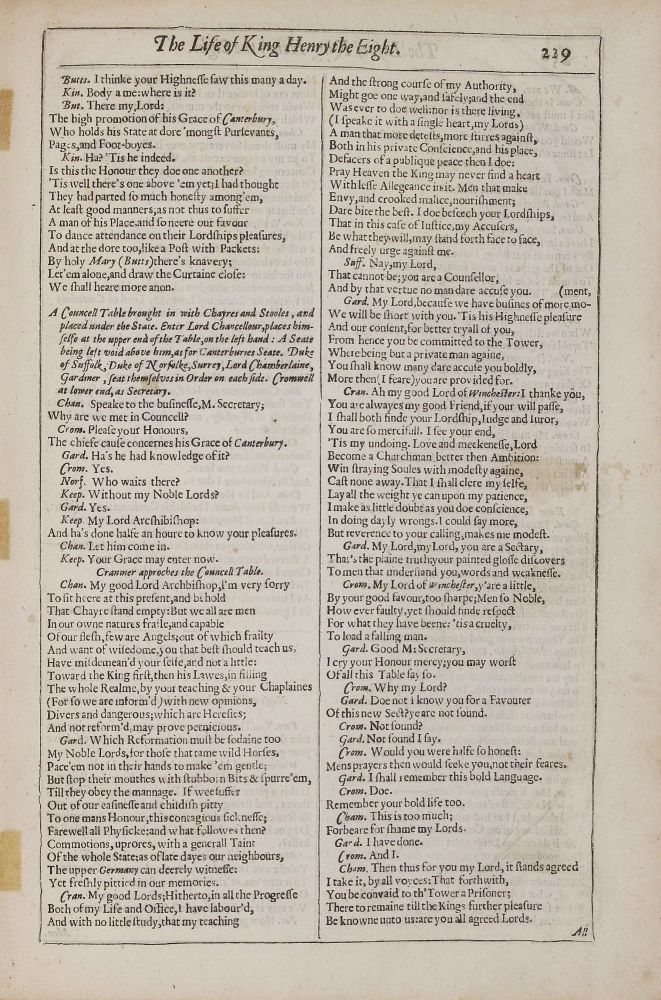 Original Leaves from the First Four Folios of the Plays of William Shakespeare, 1623, 1632, 1663, 1685 with an Introduction by Edwin Eliott Willoughby. William SHAKESPEARE.