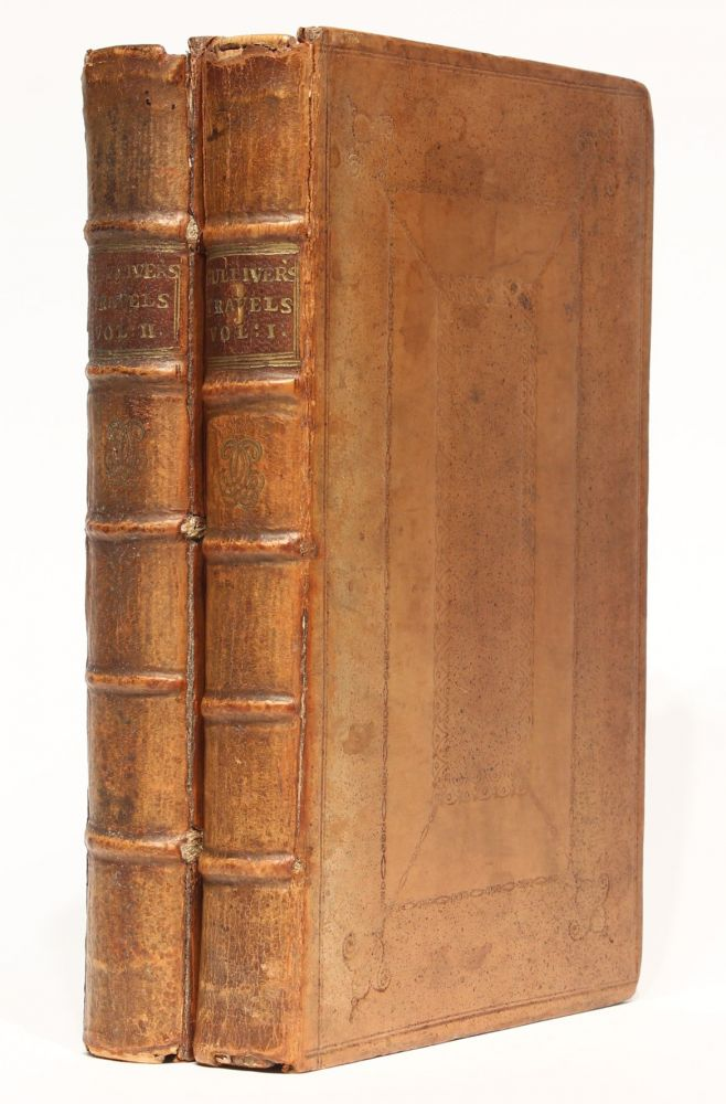 Travels into several remote nations of the world: in four parts, by Lemuel Gulliver, First a Surgeon, and then a Captain of several Ships. 4 parts bound in 2 volumes. Jonathan SWIFT.
