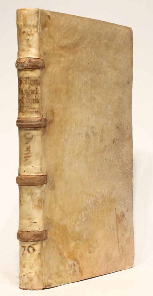 Conicorum libri quattuor. Una cum Pappi Alexandrini lemmatibus, et commentariis Eutocii Ascalonitae. Sereni Antinsensis philosophi libri duo nunc primum in lucem editi. Two parts in one volume. APOLLONIUS Pergaeus.