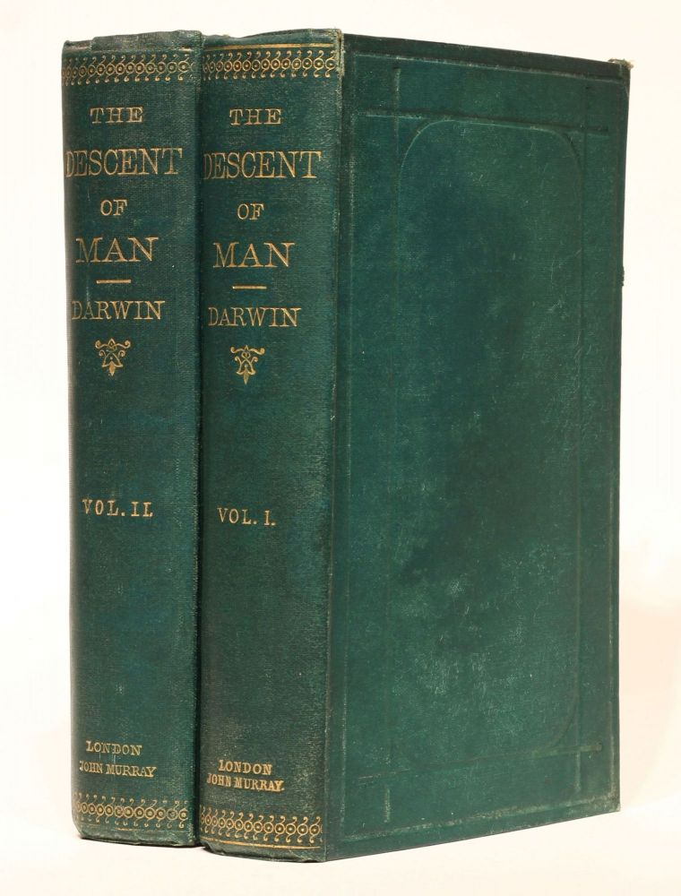 The Descent of Man, and Selection in Relation to Sex. 2 volumes. Charles DARWIN.