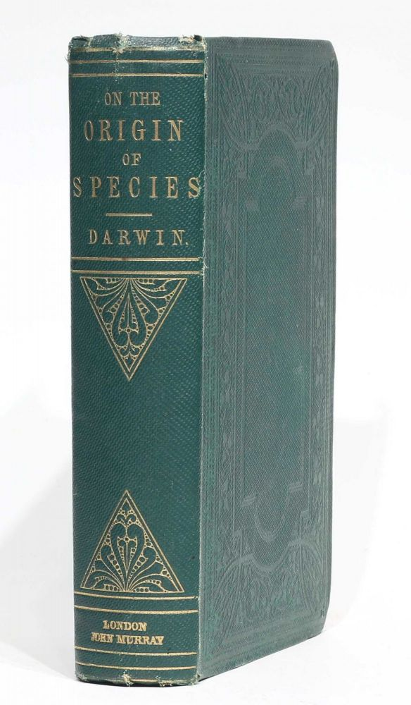 On the Origin of Species by Means of Natural Selection, or the Preservation of Favoured Races in the Struggle for Life. Second edition, second issue ('fifth thousand'). Charles DARWIN.