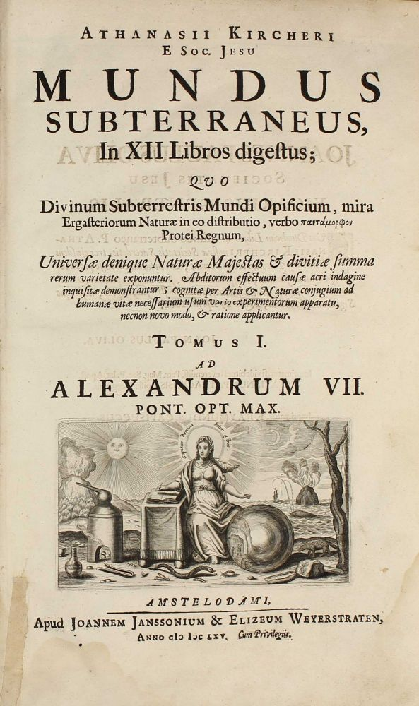 Mundus subterraneus, in XII libros digestus . . . Two parts in one volume. Athanasius KIRCHER.