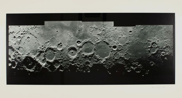 Lunar landscape near the terminator. Lunar photograph.
