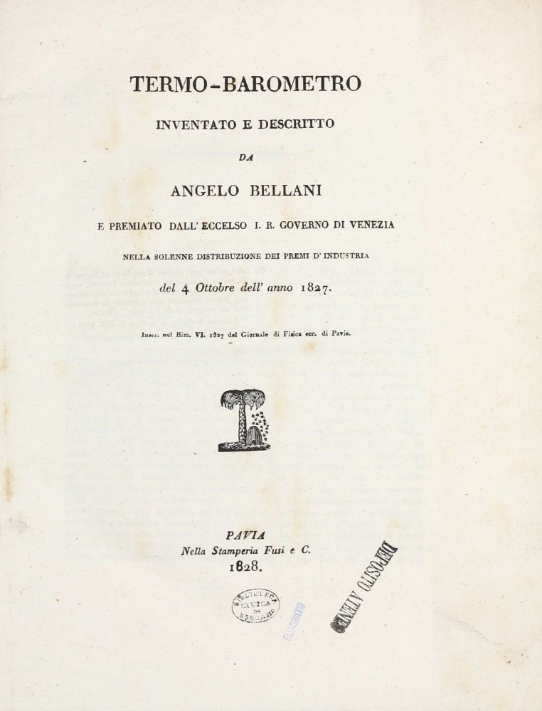 Sammelband with five rare offprints. Angelo BELLANI.