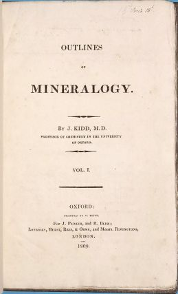Outlines of Mineralogy. John KIDD