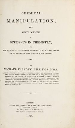 Chemical Manipulation; Being Instructions to Students in Chemistry, on the methods of performing...