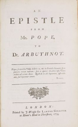 Important Sammelband of 13 works by Pope, Swift and contemporaries.