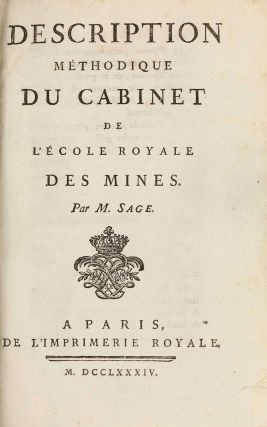 Description methodique du cabinet de l'Ecole royale des Mines / Supplement a la Description...