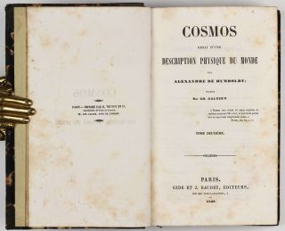 Cosmos, essai d'une description physique du monde. Traduit par H. Faye. First two (of four) volumes.
