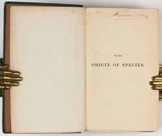 On the Origin of Species by Means of Natural Selection, or the Preservation of Favoured Races in the Struggle for Life. Second edition, second issue ('fifth thousand').