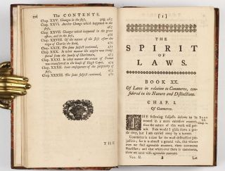 The Spirit of laws. Translated from the French ... With corrections and additions communicated by the author.