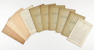 Collection of 12 offprints, mostly from the Proceedings of the Royal Society and Philosophical...