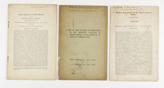 Collection of 12 offprints, mostly from the Proceedings of the Royal Society and Philosophical Magazine as listed below, FOUR WITH DEWAR'S PRESENTATION INSCRIPTIONS, on low-temperature physics, superconductivity, liquefaction of gases, etc. various places, 1892-1905.