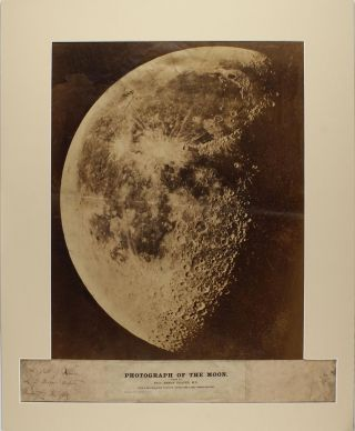 A very large and extremely rare early albumen silver print photograph of the Moon.