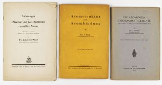 A group of three early publications of Johannes Stark (Nobel Prize in Physics in 1919).