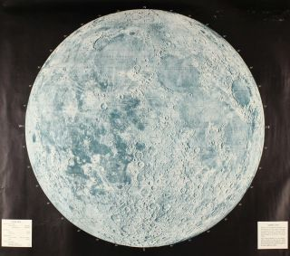 USAF lunar reference mosaic, LEM-1. Lunar earthside hemisphere in orthographic projection.