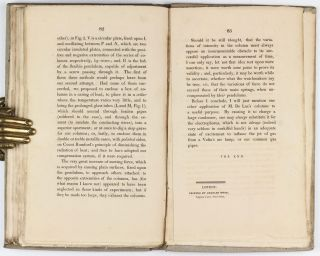 Descriptions of an Electrical Telegraph, and of Some Other Electrical Apparatus.