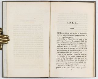 An Inquiry into the Nature and Progress of Rent, and the Principles by which it is Regulated.
