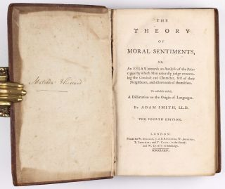 The Theory of Moral Sentiments... To which is added a dissertation on the origin of languages.