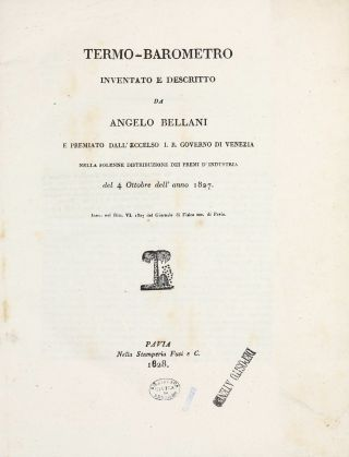 Sammelband with five rare offprints. Angelo BELLANI